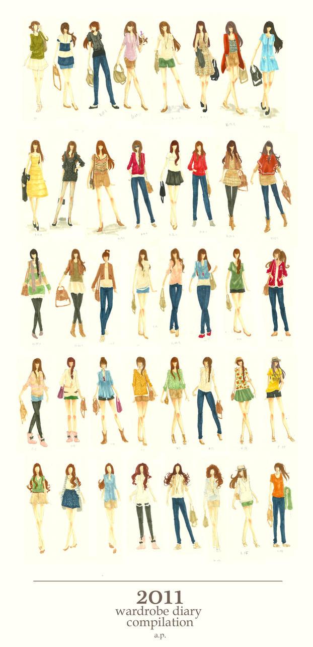 Wardrobe Diary 2011 by a-pikachu