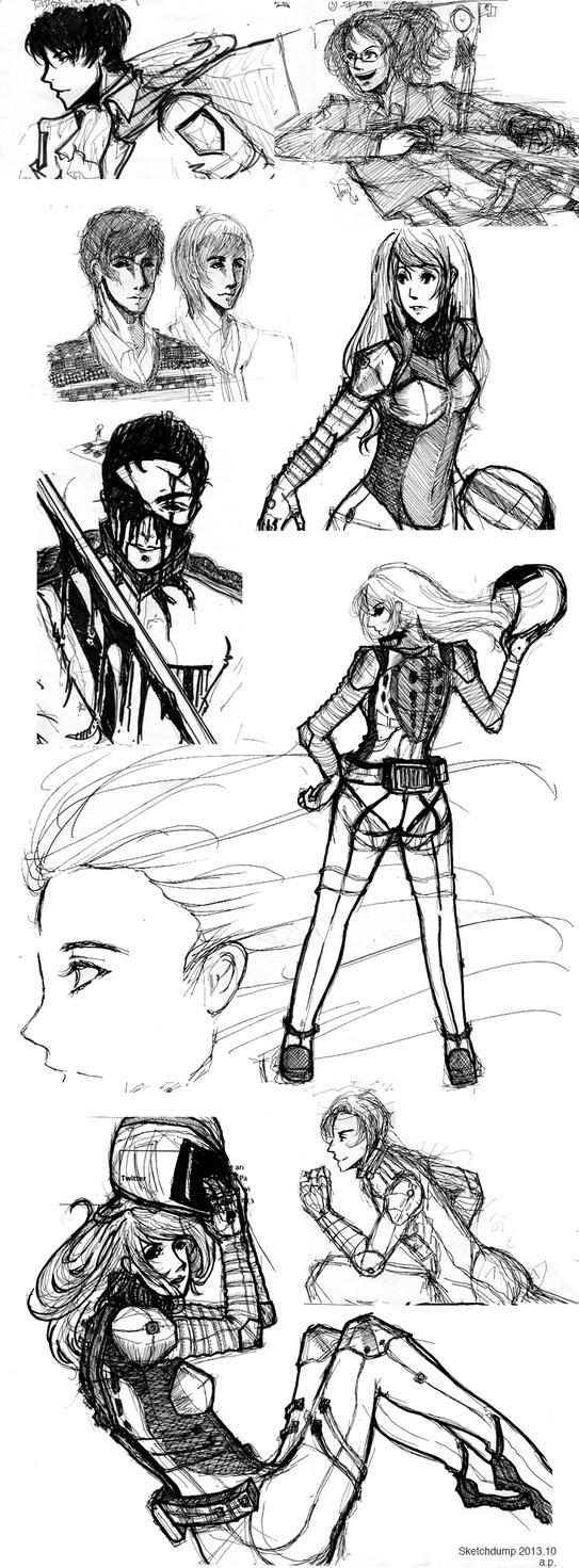 Sketchdump: 2013.10 by a-pikachu