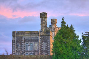 Sunset over the Old Jail by cthonus