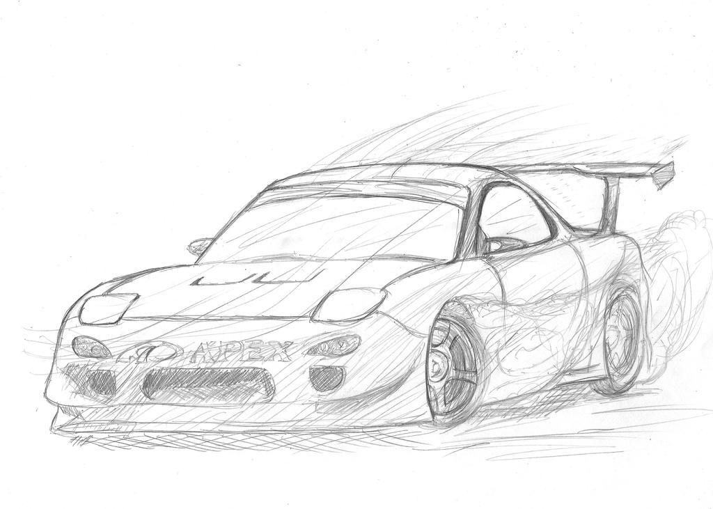 FD3S (sketch) by MikazukiKodaka