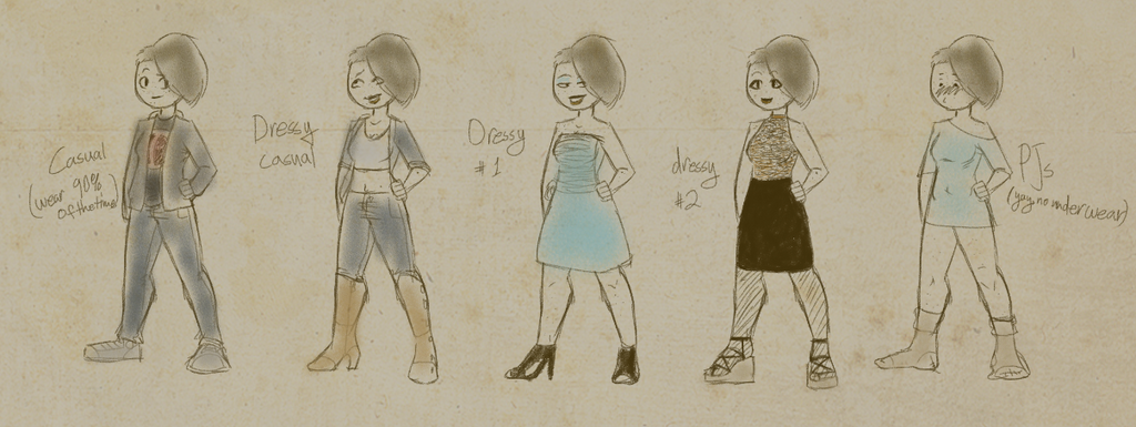 My Only Outfits by GoldenDrakAngel