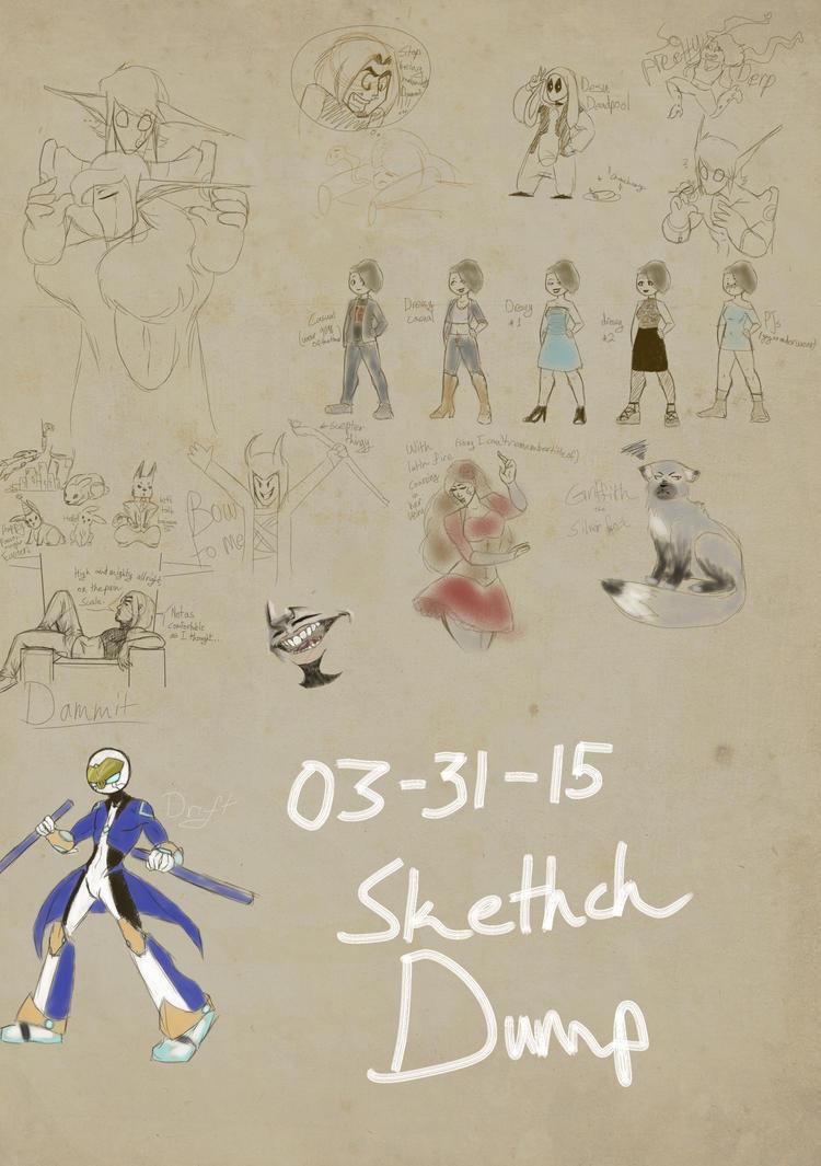 Sketch Dump by GoldenDrakAngel