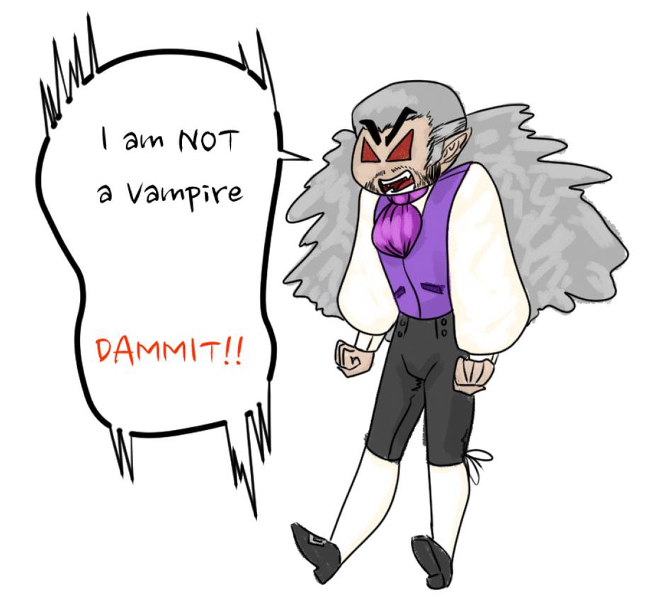 NOT a vampire... by GoldenDrakAngel