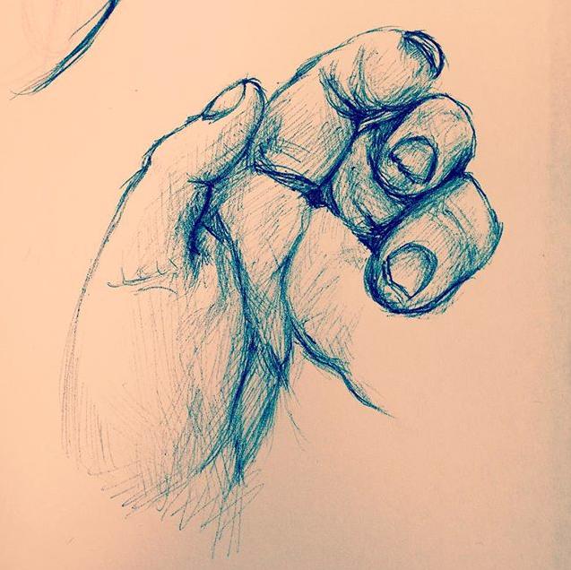 Pen Sketch by GoldenDrakAngel