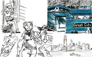 NY sketches 9 by hakantacal