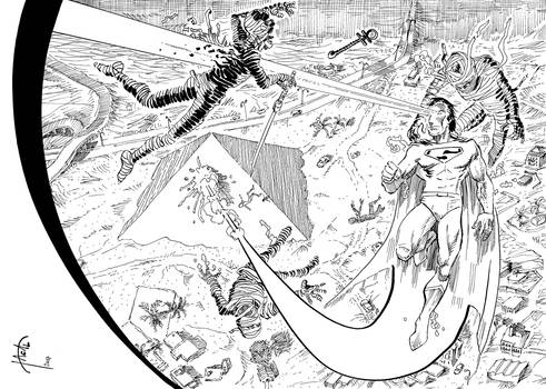 Superman-w-horde-of-mummies