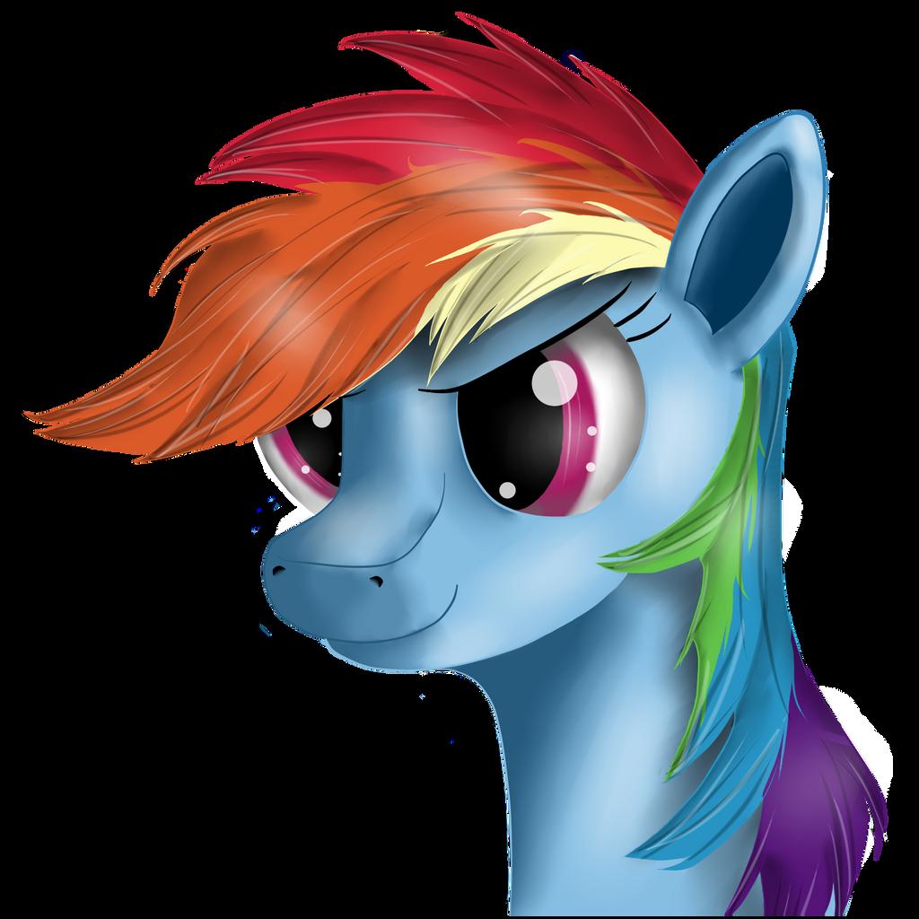 Just Rainbow Dash by Ravirr94