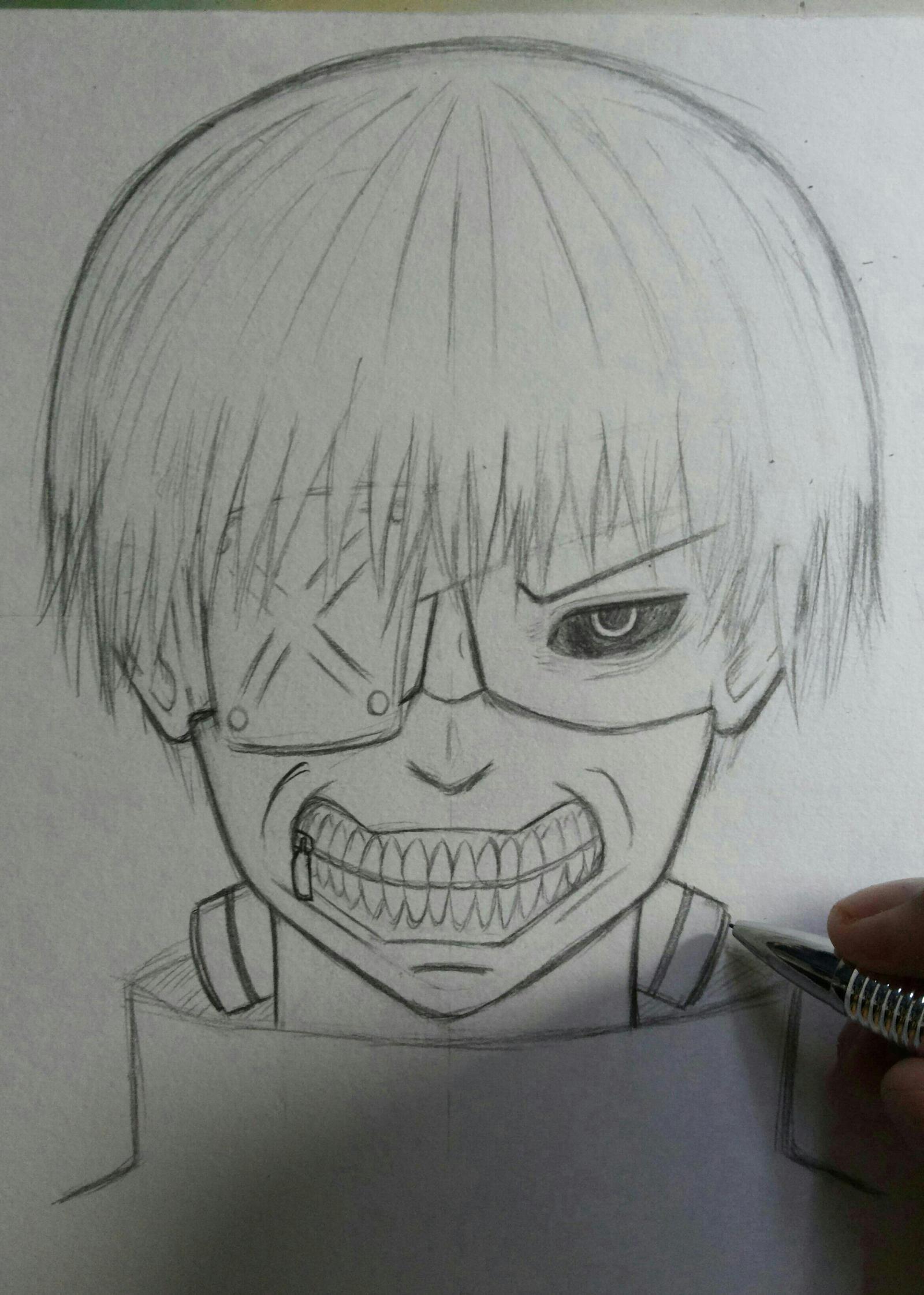 Kaneki Ken Sketch (tokyo Ghoul) By Usagi-Haise On DeviantArt
