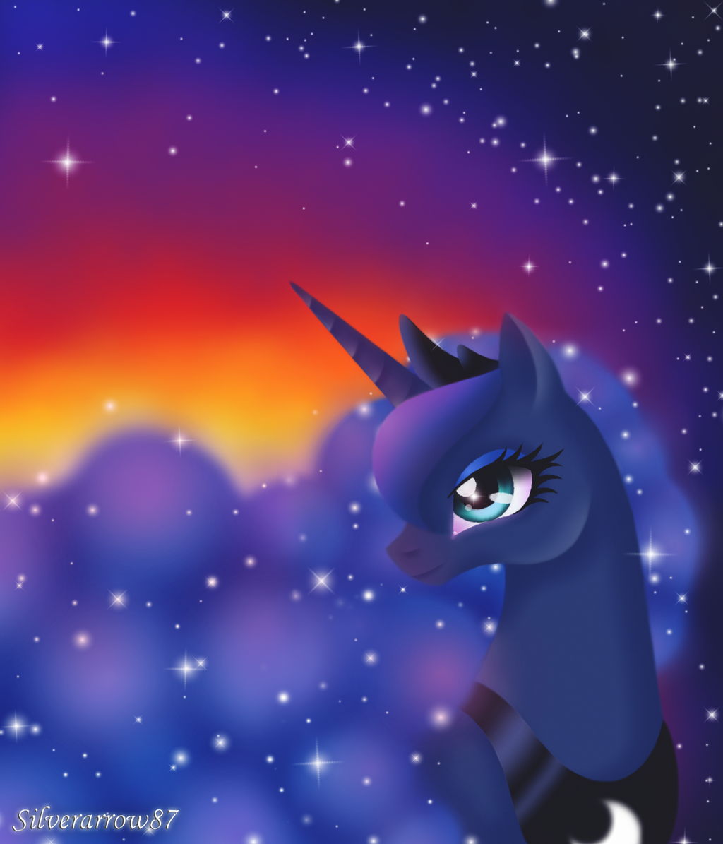 Luna's sunrise by Silverarrow87