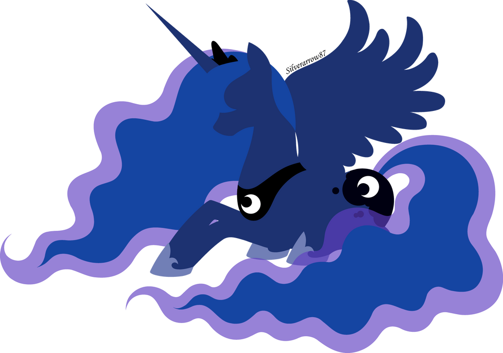 Princess Luna silhouette by Silverarrow87