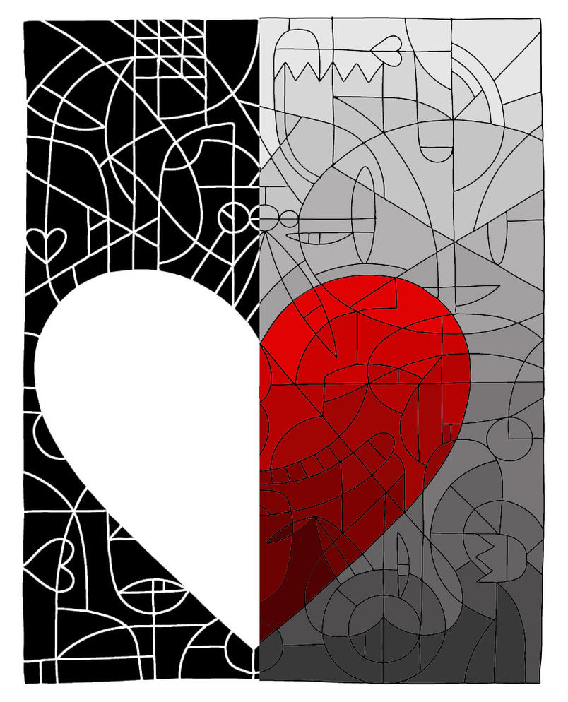 Love isnt just black and white by purplepolarbear art on - Black and white love pictures ...