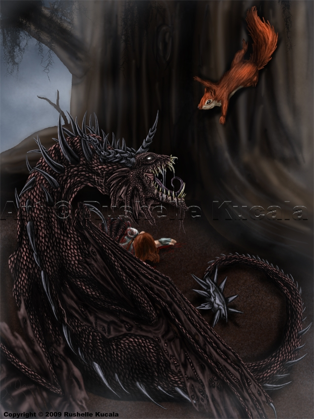Nidhogg and Ratatosk by TheDragonofDoom on DeviantArt