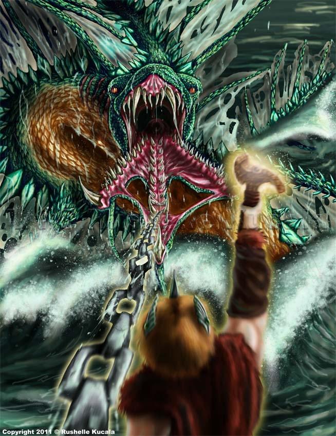 midgard serpent by thedragonofdoom on deviantart