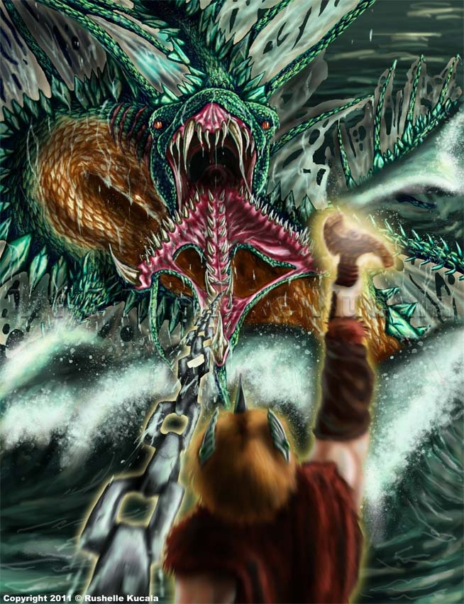 Midgard Serpent by TheDragonofDoom