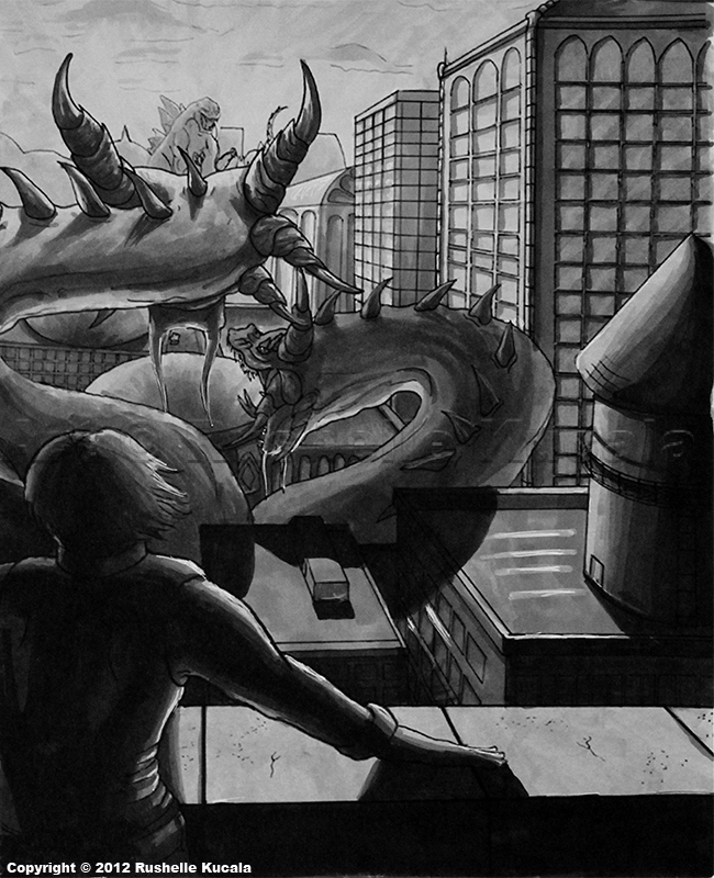 Godzilla Vs. King Ghidorah by TheDragonofDoom