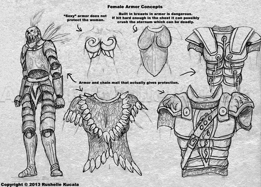 Female Armor Concepts by TheDragonofDoom on DeviantArt
