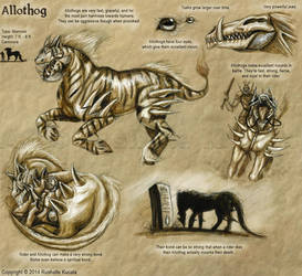 Bestiary: Allothog by TheDragonofDoom
