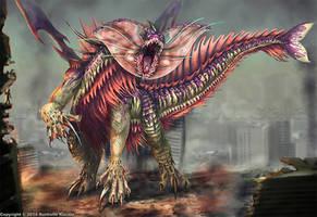Fringehead Kaiju by TheDragonofDoom