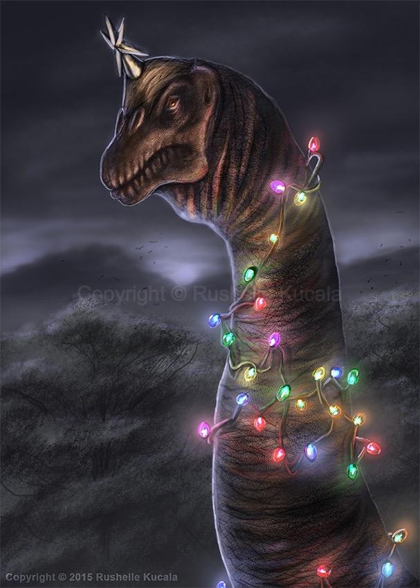 Brachiosaurus Christmas Tree by TheDragonofDoom