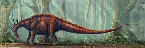 Amargasaurus Restored by TheDragonofDoom