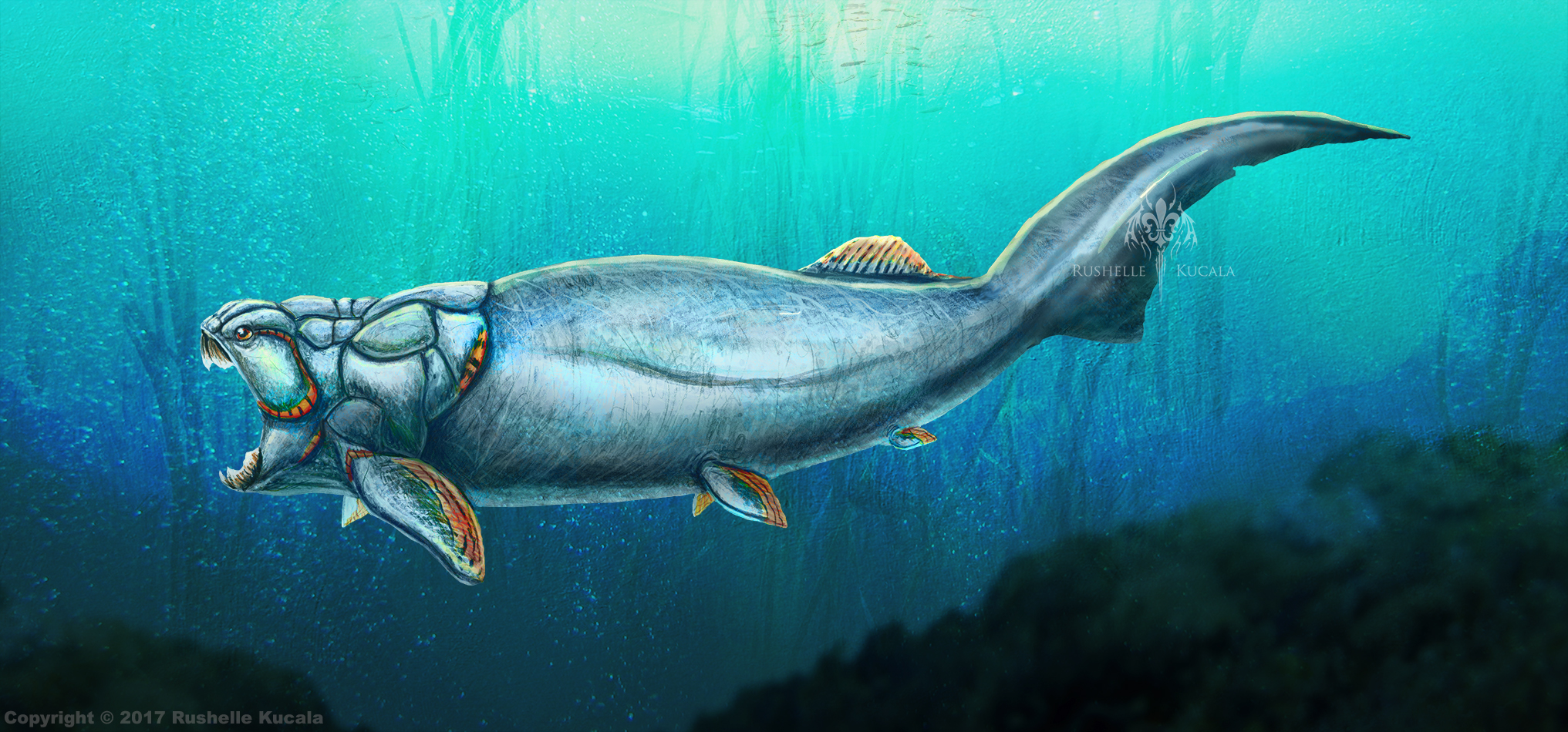 Dunkleosteus Terrelli Restored by TheDragonofDoom on ...