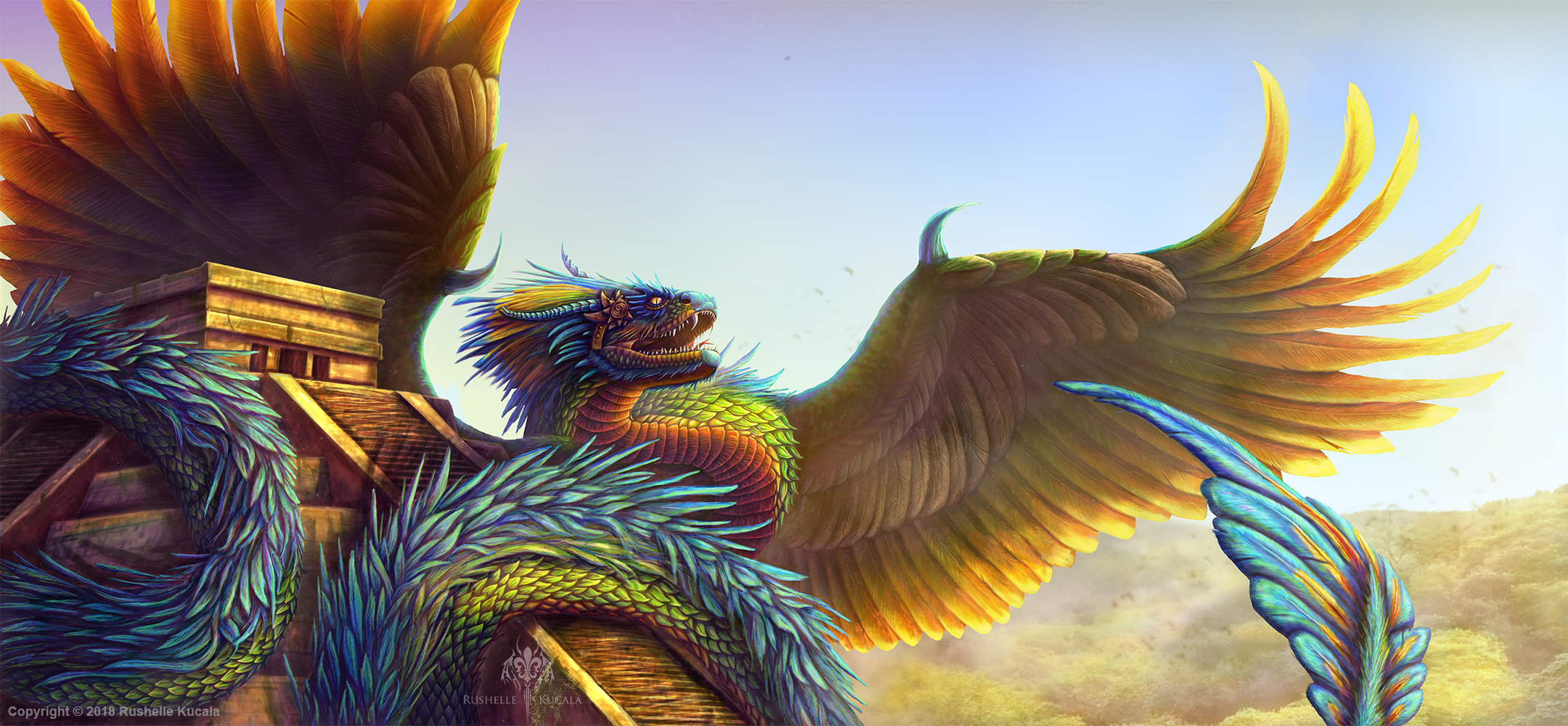 potenza Quetzalcoatl, il Serpente Piumato - by TheDragonofDoom DeviantArt.com © dell'autore