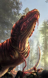 Tyrannosaurus Meal by TheDragonofDoom