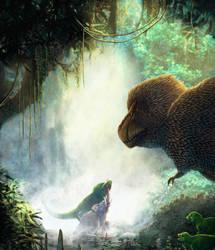 Tyrannosaurus Rex Vs. Elephant