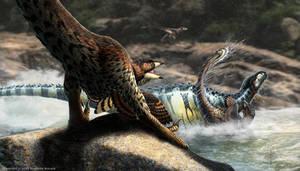 Tenontosaurus Having a Bad Day