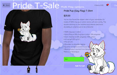 Pride Pup T-shits!  $20 this month