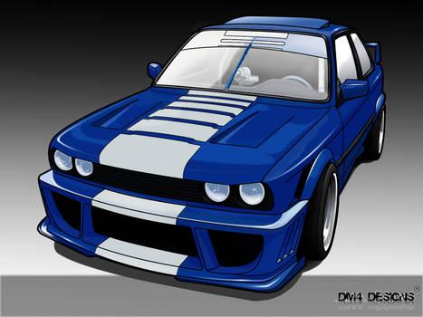 BMW E30 toon
