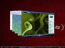 My Vistafied XP Desktop by deviantarnab