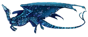 The Blue Tree Monitor Dragon