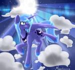 Cloud Jumping Princess Luna