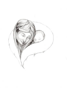 Inupiaq Mother and Child......