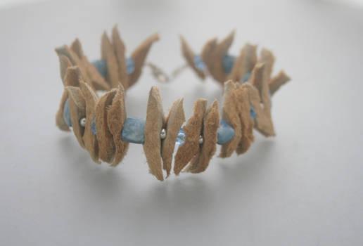 Sea urchin - Alaska native moose bracelet
