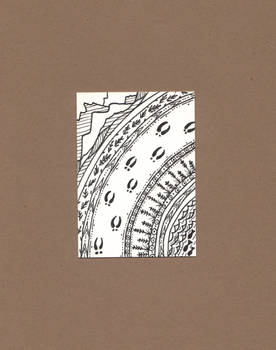 Caribou Tracks - ACEO