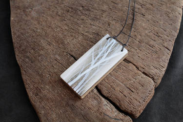 Frost Weight willows -AKN8TV caribou antler bijoux by EskimoScrybe