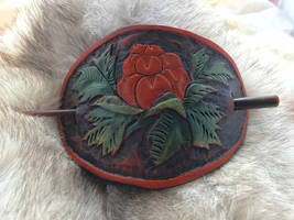 Cloudberry Dreams leather hair piece
