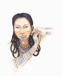 InuVogue  Alaska Native Inupiaq drawing