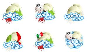 Gelato Fresco Logos by multiroi