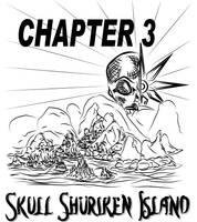 Mortimer's home Skull Shuriken Island by MortimerAglet