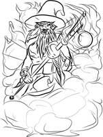 The famed Wizard Roznilrem by MortimerAglet