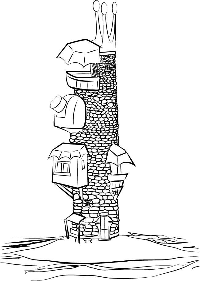 Roznilrem's Wizard Tower by MortimerAglet