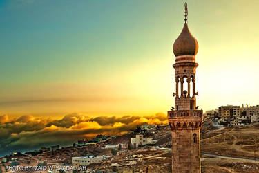 Mosque at Sunset by zmax78