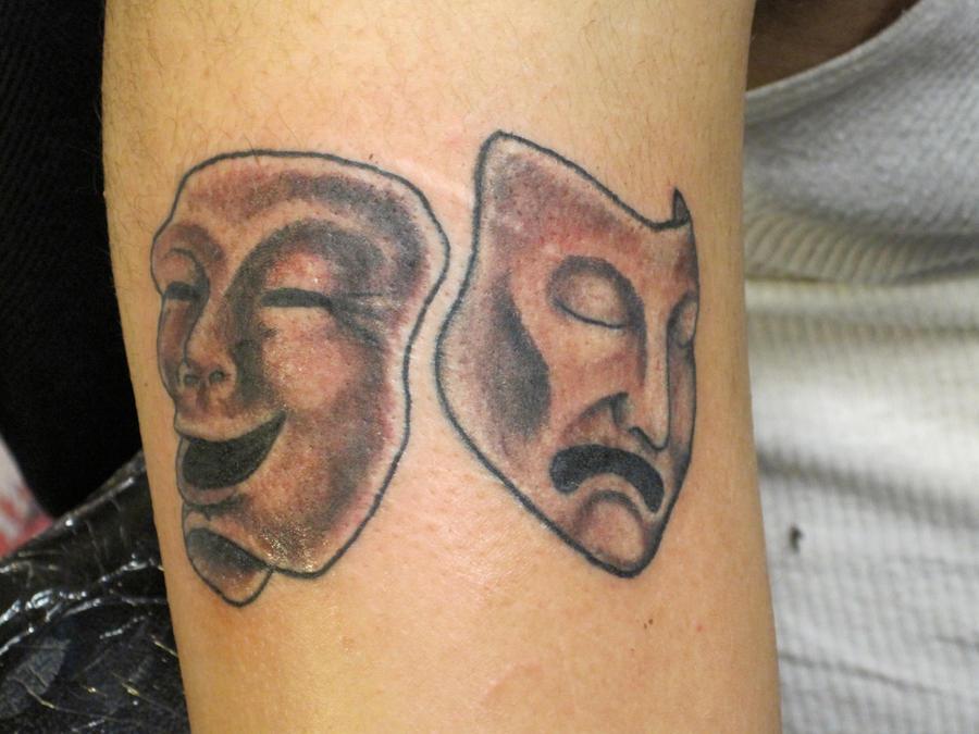 Drama Masks Tattoo Drama Masks Tattoo by ...
