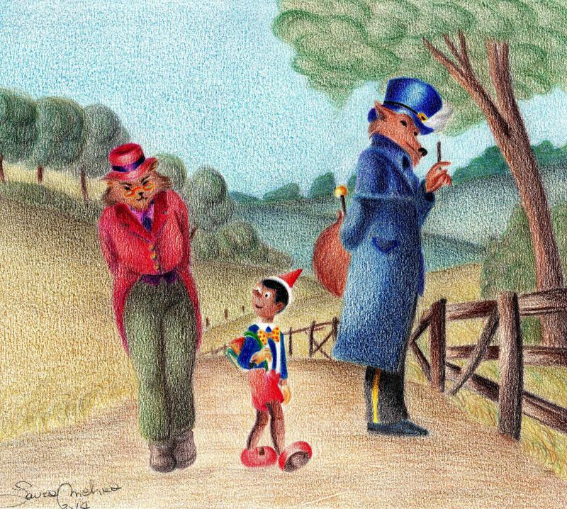 Pinocchio - Il gatto e la volpe by LauraMel
