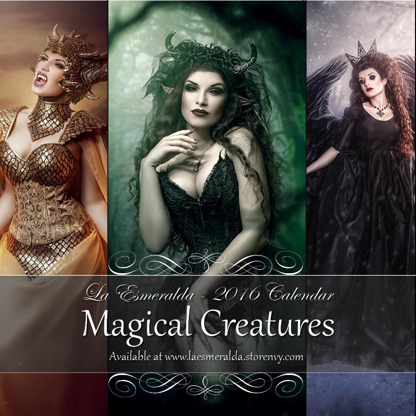 'Magical Creatures' - 2016 Fantasy Art Calendar by la-esmeralda