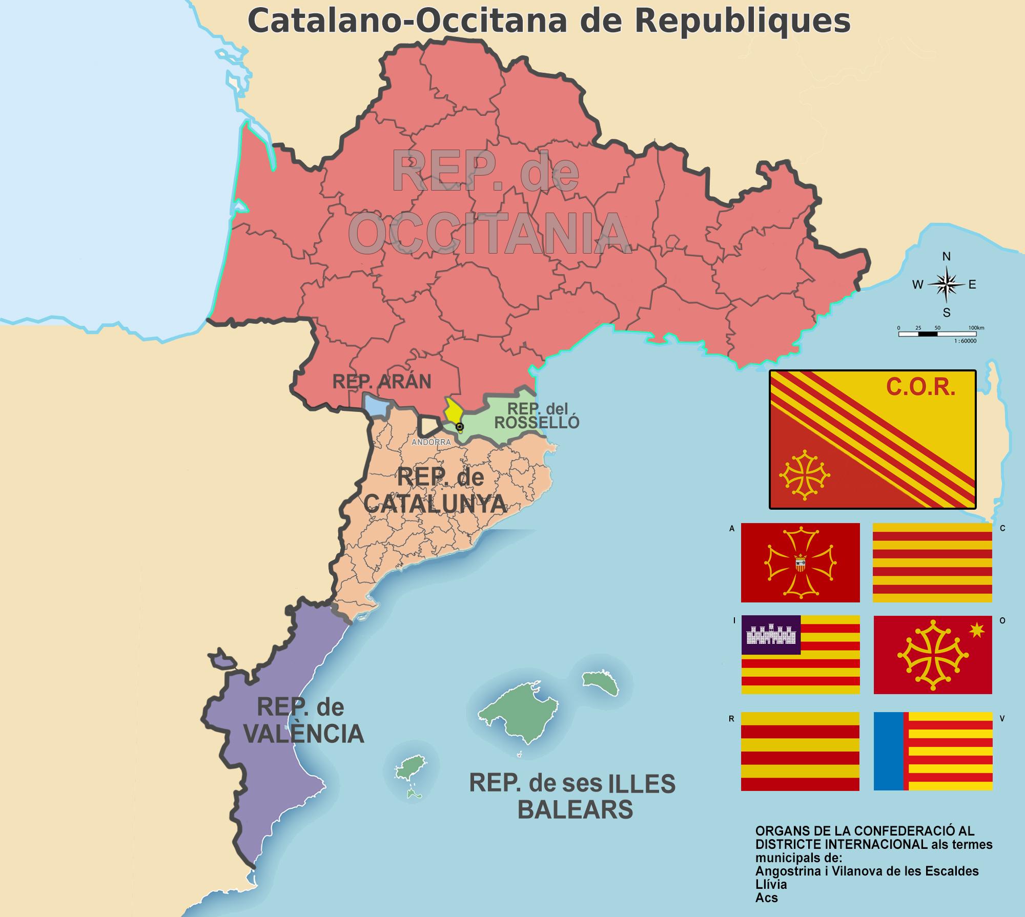 Confederacio Catalano Occitana De Republiques By Ginart