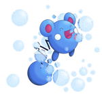 Azurill Use Bubble by PamtreWN